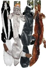 """CLEARANCE!  28"""" STUFFING FREE Skunk Rabbit Raccoon Coyote Dog Toy w/2 Squeakers"""