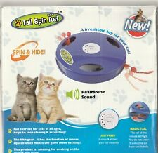 cat toys- Tail Spin Rat New - real mouse sound New