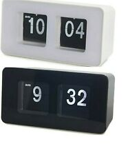 Balvi Orologio da appoggio Flip Clock Colore Nero o Bianco
