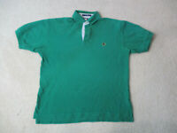 VINTAGE Tommy Hilfiger Polo Shirt Adult Small Green Crest Rugby Casual Mens 90s