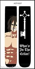 Anime Attack on Titan What's In The Cellar Unisex 2 Pair Crew Cut Socks Cosplay