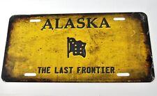 USA Alaska Last Frontier Old Style Nummernschild License Plate Deko Blechschild