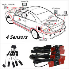 Car Parking 4 Sensor System Rear View Backup Radar Alarm Kit 16MM Flat Reverse