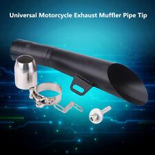AU 35mm-51mm Stainless Steel Universal Motorcycle Exhaust Muffler Pipe Tip Black
