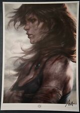 Tomb Raider Lara Croft Stanley Artgerm Lau Signed Art Print