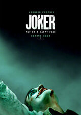 JOKER Poster, Joaquin Phoenix DC 2019 NEW Movie Film, FREE P+P, CHOOSE YOUR SIZE