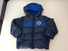 Benetton Boys Padded Coat, Size Age 3-4 Years, 100 Cm, Blue, Duck Down, Vgc