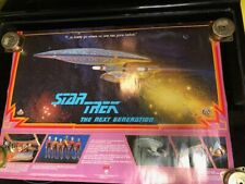 STAR TREK NEXT GENERATION 1987 Galoob TOY RELEASE POSTER ORIGINAL