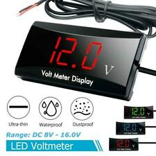 Car Motorcycle 12V Digital LED Display Voltmeter Voltage Gauge Panel Meter