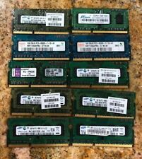 Lot of 10 1GB PC3-8500 DDR3 RAM 1066MHZ Laptop Memory Major Brands Mixed