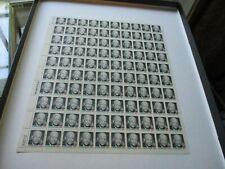 Error Sheet Stamp # 1394 1971 8c Eisenhower 100 Stamps (stamps printed on back)