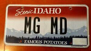 MG Mechanic / British Repair Shop / Idaho vanity license plate MG MD