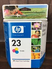 HP 23 Tri-Color Ink Cartridge C1823D Genuine New Sealed in Box Exp. 8/2007