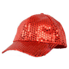 Adjustable For Kid Women Men Shining Baseball Hat Sequin Glitter Dance Party Cap