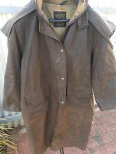 Vintage Back A Bourke Oil Skin Long Jacket Size 3 Brown In Colour.