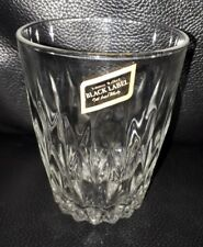 RARE COLLECTABLE JOHNNIE WALKER BLACK LABEL SCOTCH WHISKY GLASS USED CONDITION