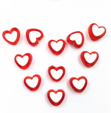 100 Pcs Wholesale Heart Acrylic Beads Jewelry Making Handmade 12 Colors Gift