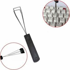 Keyboard Key Keycap Puller Remover With Unloading Steel Cleaning Tool Black