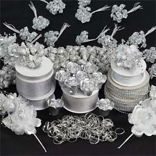 Silver LARGE Lot of Assorted CRAFT Decorations Wedding Party Wholesale SALE