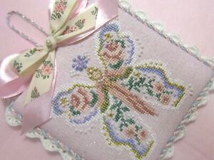 finished completed JUST NAN Gypsy Rose (Glorious Wings) cross stitch ornament