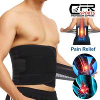 Waist Lumbar Lower Back Support Belt Herniated Disc Sciatica Pain Relief exercis