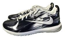 Nike Lacrosse Vapor Varsity Low Turf Lax Black White Mens Sz 9.5 Lacrosse Shoes