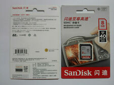 1pc SanDisk Ultra 8GB, Class 10 40MB/s - SDHC Card - SDSDU-008G