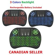 Mini i8 3 Colors Backlight 2.4GHz Wireless Keyboard Remote Control with Touchpad