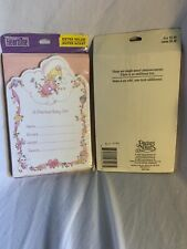 64 Hallmark (4 Packs) Precious Moments Baby Girl Announcements W Pink Envelopes