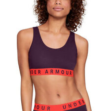 Under Armour Womens Everyday Cotton Purple Ladies Gym Sports Bra