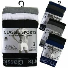 12 PAIRS MENS DESIGNER PLAIN CLASSIC SPORT COTTON BOXER SHORTS ASSORTED BRIEFS
