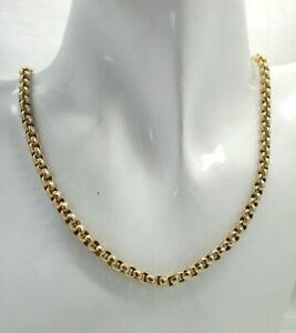 Antique 9 carat Gold Diamond Cut Belcher Link Chain