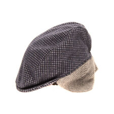Ciccino Earflap Flat Cap Size 52 / 2Y / Xs Houndstooth Pattern Made in Italy