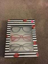 BETSEY JOHNSON BLACK, RED & TORTOISE READERS 3 PACK NEW +1.50 GLASSES
