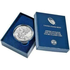 New 2014 American Silver Eagle 1oz Uncirculated Coin with Display Box & COA