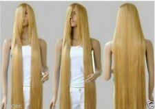 Long Rapunzel Tangled Light Golden Blonde Straight Cosplay Hair wigs 100cm