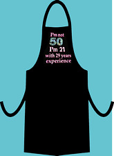 50th Birthday Gift Present Apron Vinyl and Rhinestones in different COLOURS****