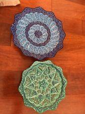 2 Enamel Copper Plates Iran
