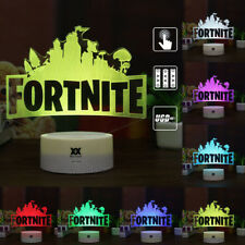 3D Lamp FORTNITE Sign LED Night light 7 Colors Change Touch Table Desk Art Gifts