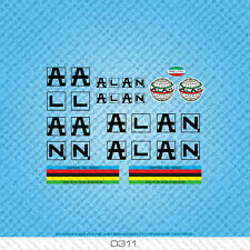 Alan Bicycle Decals Transfers Stickers - Black - Set 311