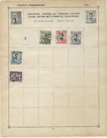 Indochina Stamps on an old Stamp Album Page