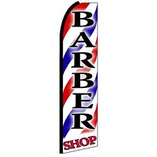 Barber Shop King Size Polyester Swooper Flag Banner Sign