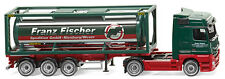 Wiking 053603, MB Actros Tankcontainer-Sattelzug, Spedition Fischer, neu, OVP