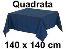 Tovaglia Cotone 140 X 140 cm Quadrata Tinta Unita colori assortiti 100% cotone
