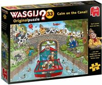 NEW! Jumbo Wasgij Original 33 Calm on the Canal 1000 piece comic jigsaw puzzle