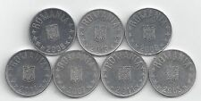 7 - 10 BANI COINS from ROMANIA (2005, 2007, 2008, 2009, 2011, 2013 & 2014)