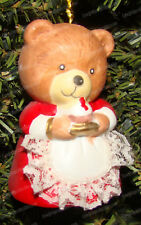 L'il Chimer Mamma Bear Bell Ornament (by Jasco) Hand-Painted Porcelain Bisque