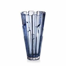 "Crystal Glass Vase 12 "" Centerpiece Flower Blue Color Bohemia Crystal NEW"