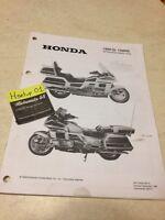 Honda Goldwing GL1500SE GL1500 SE 99 Gold instructions préparation setup manuel