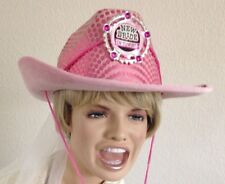 Pink Cowboy  New BRIDE in Town Hat with Veil